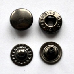 Кнопка металлическая 10 мм Турция темный никель (1440 штук)