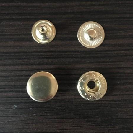 Кнопка металлическая 12,5мм Турция золото (720 штук)