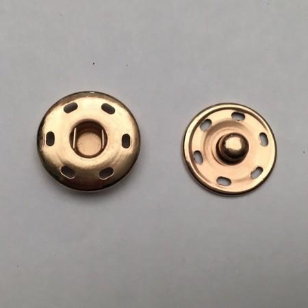 Кнопка метал пришивная 21 мм золото (1000 штук)