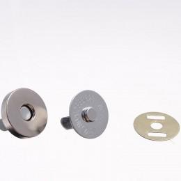 Кнопка магнит 18мм Китай никель (100 штук)