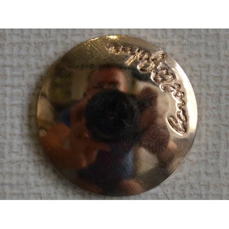 Кнопка декоративная 25 мм №6 золото (1000 штук)