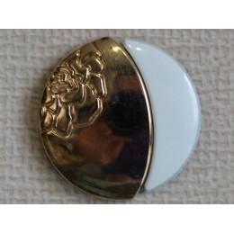 Кнопка декоративная 25 мм №7 золото (1000 штук)