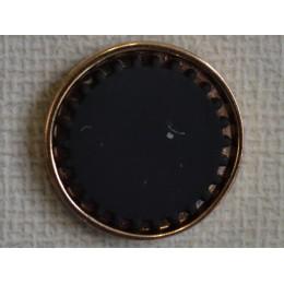 Кнопка декоративная 25 мм №21 золото (1000 штук)