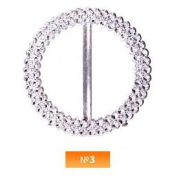 Пряжка пластиовая №3 никель 4 см (100 штук)