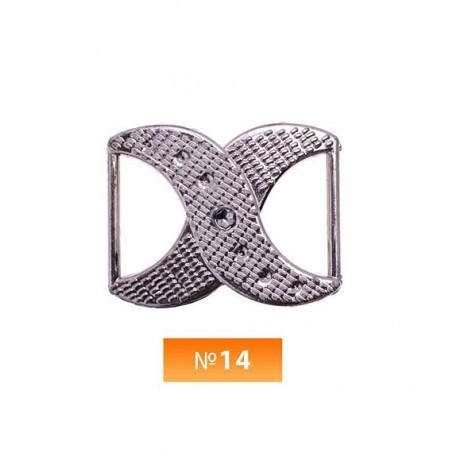 Пряжка пластиовая №14 блек никель 2 см (100 штук)