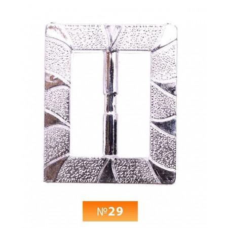 Пряжка пластиовая №29 никель 3.5 см (100 штук)