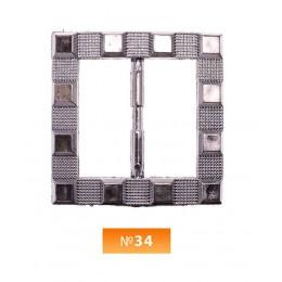 Пряжка пластиовая №34 блек никель 3 см (100 штук)