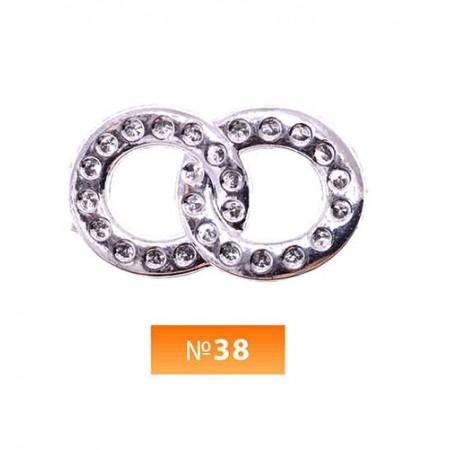 Пряжка пластиовая №38 никель (100 штук)