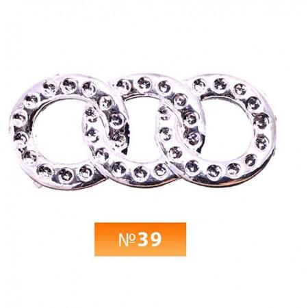 Пряжка пластиовая №39 никель (100 штук)