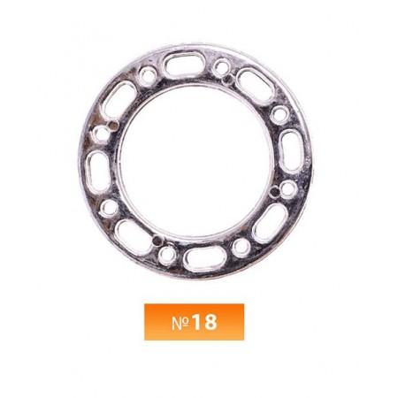 Кольцо пластиковое №18 никель 3 см (250 штук)