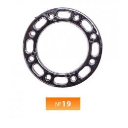 Кольцо пластиковое №19 блек никель 3 см (250 штук)