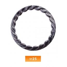 Кольцо пластиковое №25 блек никель 5 см (250 штук)