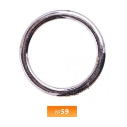 Кольцо пластиковое №59 никель 5 см (250 штук)