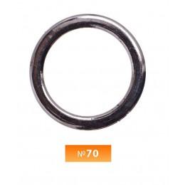 Кольцо пластиковое №70 блек никель 4 см (250 штук)