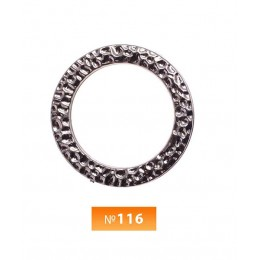 Кольцо пластиковое №116 блек никель 3.5 см (250 штук)