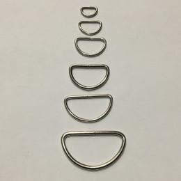 Полукольцо металлическое 25мм (100 штук)