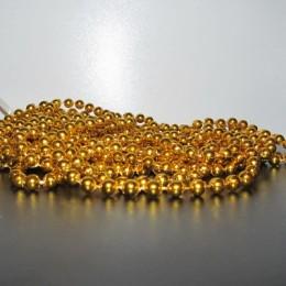 Бусы на вес средние золото (1 килограмм)