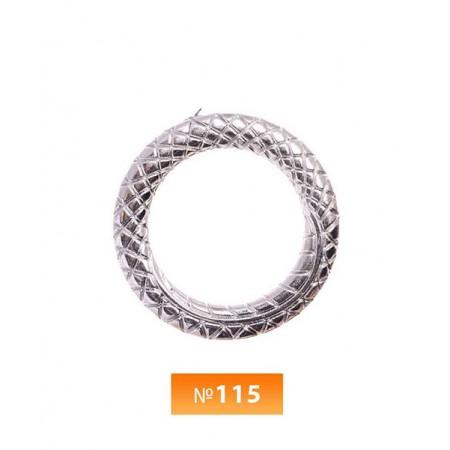 Кольцо пластиковое №115 блек никель 3 см (250 штук)