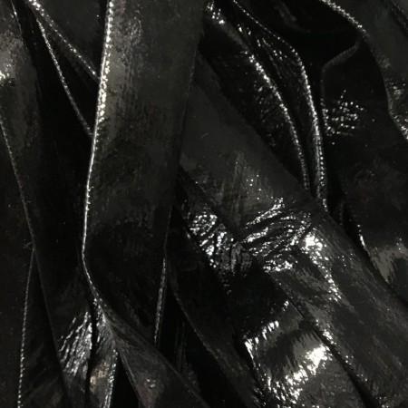 Бейка лаковая 15 мм черная (30 ярдов)
