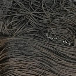 Шнур круглый 1мм черный (100 метров)