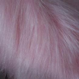 Искусственный мех для игрушек длинноворсовый розовый (метр )