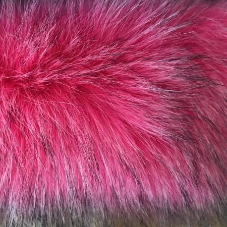 Искусственный мех чернобурка розовая длинна ворса 6см (метр )