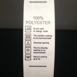Этикетка накатанная 25мм (составник) Polyester 100% (100 метров)