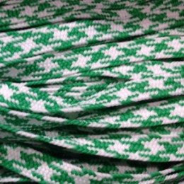 Шнур плоский ПЭ 12мм зелено белый (100 метров)