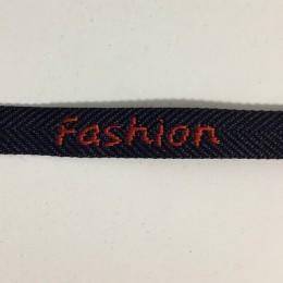 Тесьма с логотипом  Fashion10мм красно-синяя (50 метров)
