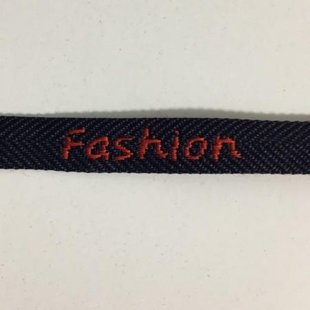 Тесьма с логотипом 10мм Fashion красно-синяя (50 метров)