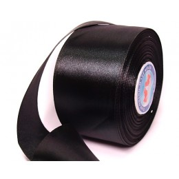 Тесьма атласна 50мм (36ярд) черная (4 штуки)