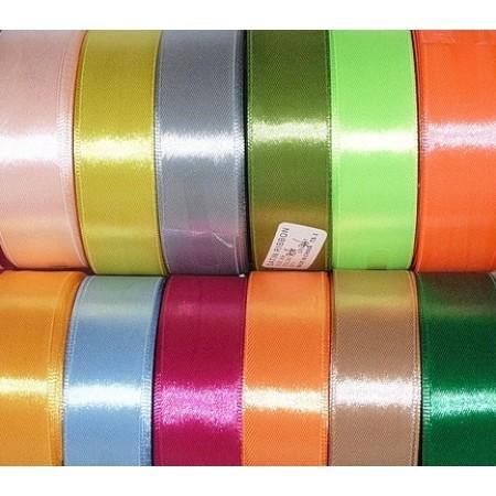 Тесьма атласна 25мм (36ярд) цветная (6 штук)