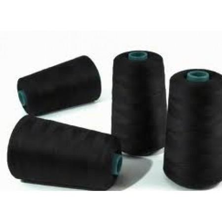 Нитки швейные черный 40(2) Евростиль (3700м) (12 штук)