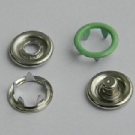 Кнопка трикотажная беби кольцо 9,5 мм турция салатовый 246 (1440 штук)