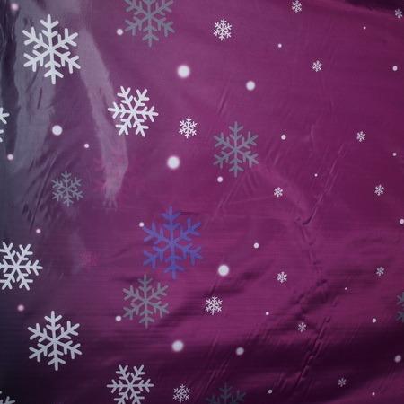 Ткань плащевка снежинка темно-розовый (метр )