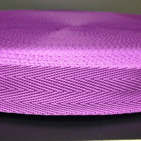 Тесьма-лента ременная производство 25мм фиолетовый (50 метров)