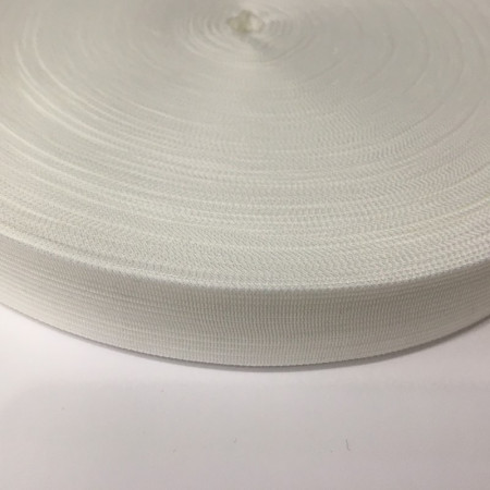 Тесьма окантовочная 18мм белая (1000 метров)