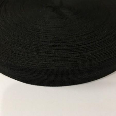 Тесьма окантовочная 18мм черная (1000 метров)