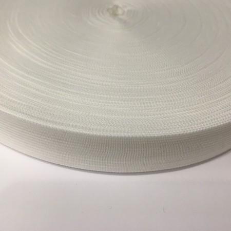 Тесьма окантовочная 23мм белый (1000 метров)