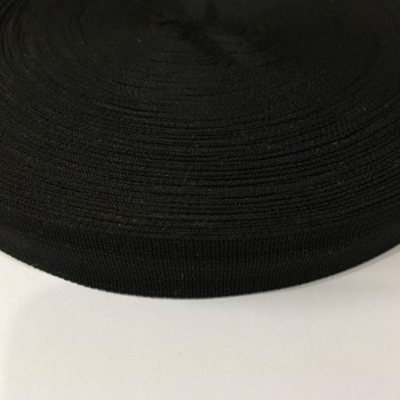 Тесьма окантовочная 23мм черная (1000 метров)
