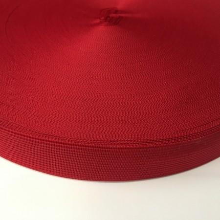 Тесьма окантовочная 23мм красная (100 метров)