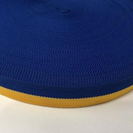 Тесьма окантовочная 20мм желтый синий (50 метров)