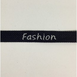 Тесьма с логотипом  Fashion10мм черно-белая (50 метров)