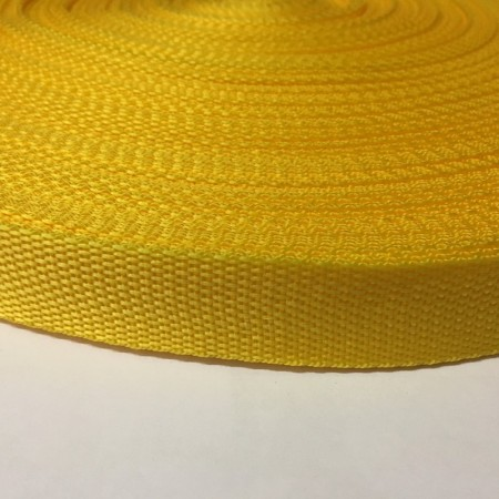 Тесьма-лента ременная 25мм желтый подсолнух (100 метров)