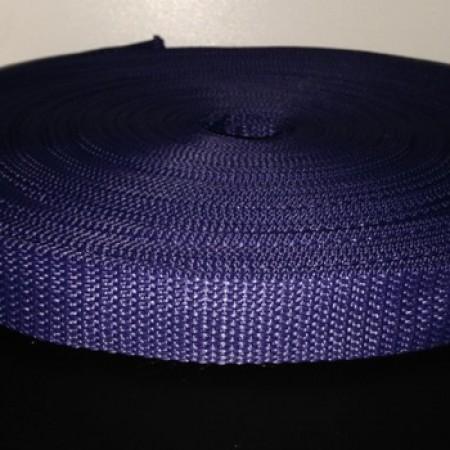 Тесьма-лента ременная 25мм синий (100 метров)