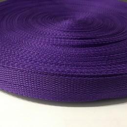 Тесьма-лента ременная 25мм фиолетовый (лиловый) (100 метров)