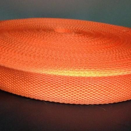Тесьма-лента ременная 25мм оранжевый (100 метров)