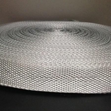 Тесьма-лента ременная 25мм светло серый (100 метров)