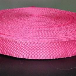 Тесьма-лента ременная 25мм розовый (100 метров)