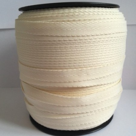 Тесьма лента  киперная 10мм №306 молочный (250 м)